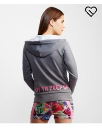 Live Love Dream | Gray Lld Keep Up Funnel Neck Full-zip Hoodie | Lyst