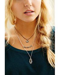 Urban Outfitters - Metallic Yin Yang Hamsa Layering Necklace - Lyst