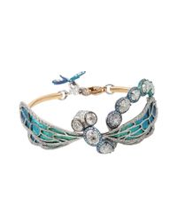Arunashi Metallic Diamond Dragonfly Bracelet