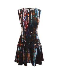 Mcq Blurry Lights Print Mini Dress Lyst
