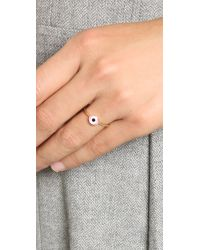 Holly Dyment | Mini Evil Eye Ring - Pink | Lyst
