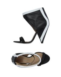 IRO - Ankle Cuff Cone Heel Sandal Blackwhite - Lyst