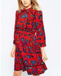 ASOS | Multicolor Shirt Dress In Folk Print | Lyst
