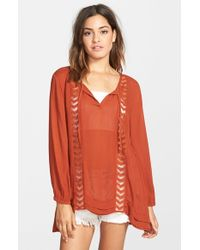 Volcom - Brown 'highway Child' Tunic - Lyst