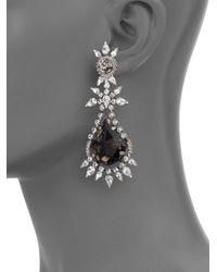 DANNIJO | Blue Aurelia Crystal Drop Earrings | Lyst