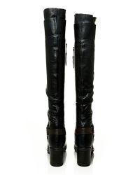 Moda In Pelle Black Jovena Medium Casual Long Boots