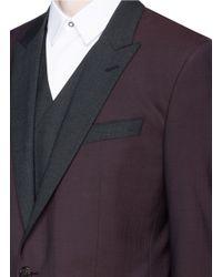 Dolce & Gabbana Red 'martini' Three Piece Virgin Wool Tuxedo Suit for men