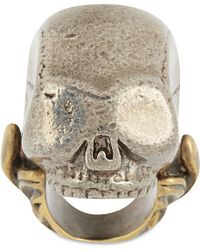 Givenchy | Metallic Large Skull Ring | Lyst