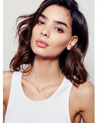 Free People - Metallic Deer Lovely Necklace - Lyst