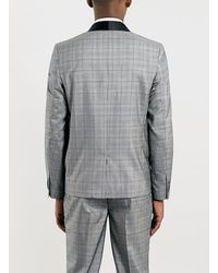 LAC - Gray Grey Checked Blazer for Men - Lyst