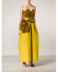 Rosie Assoulin Yellow Wide Leg Trousers