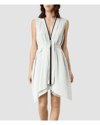 AllSaints White Lewis Lew Dress