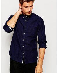 Esprit Blue Denim Shirt With Fleck for men
