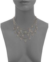 Gerard Yosca - Metallic Three-row Statement Necklace - Lyst