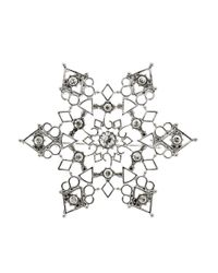 R.j. Graziano | Metallic Snowflake Pin | Lyst