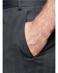Canali - Gray Herringbone Weave Pants for Men - Lyst