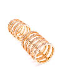 Repossi Metallic Berbère 18-karat Gold And Diamond Ring