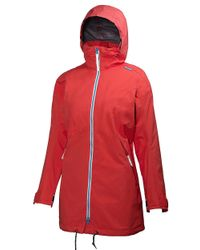 Helly Hansen | Red Laurel Long Waterproof And Windproof Jacket | Lyst