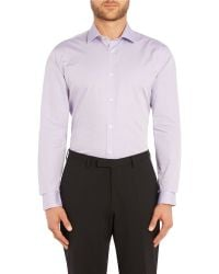 Ted Baker - Purple Michone Pattern Slim Fit Formal Shirt for Men - Lyst
