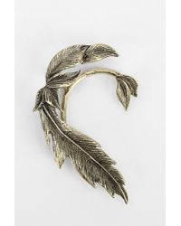 Urban Outfitters - Metallic Feather Ear Hanger Earring - Lyst