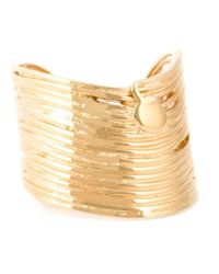 Gas Bijoux | Metallic Wide Wave Ring | Lyst