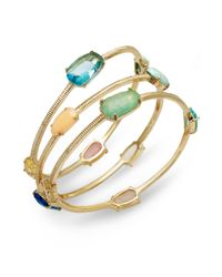 Lauren by Ralph Lauren - Metallic 14k Goldplated Palm Beach Bangle Bracelet Set - Lyst
