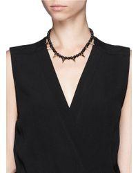 Joomi Lim Black Stud Bead Necklace
