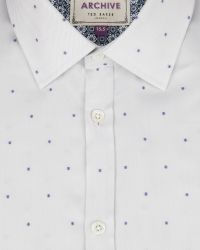 Ted Baker | White Fil Coupé Shirt for Men | Lyst