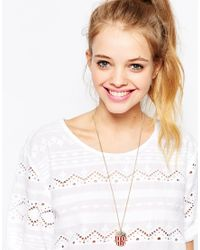 Monki | Red Sally Necklace | Lyst