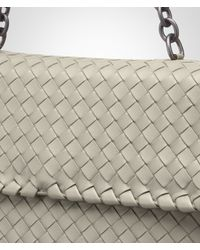 Bottega Veneta Natural New Sand Intrecciato Nappa Olimpia Bag