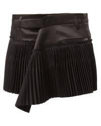 Haider Ackermann - Black Pleated Mini Skirt - Lyst