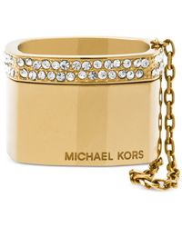 Michael Kors | Metallic Gold-tone Stack Band Ring | Lyst