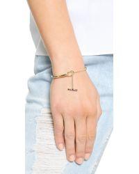 Elizabeth and James - Metallic Margaux Bangle Bracelet - Gold - Lyst