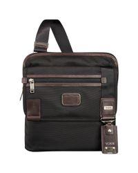 Tumi - Black Annapolis Zip Flap Messenger Bag for Men - Lyst