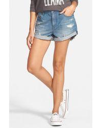 Volcom Blue Boyfriend Denim Shorts
