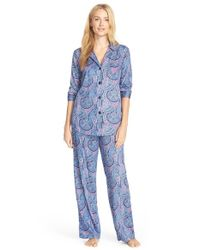 Lauren by Ralph Lauren | Multicolor Print Sateen Pajamas | Lyst