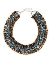 Nakamol - Metallic Crystal Beaded Collar Necklace - Lyst
