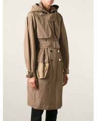 Dolce & Gabbana - Natural Hooded Trench Coat - Lyst