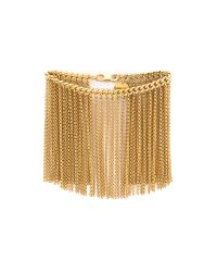 Nina Ricci | Metallic Fringe Bracelet - Gold | Lyst