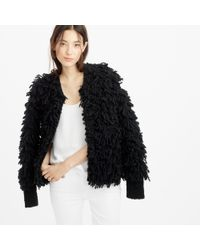 J.Crew | Black Collection Bouclé Sweater-jacket | Lyst