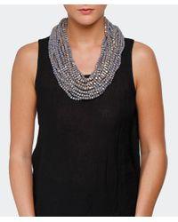 Jianhui   White Textile Multi Strand Necklace   Lyst