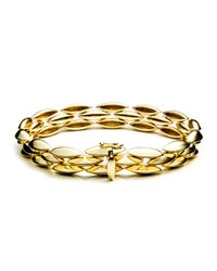 Alexis Bittar | Metallic Gold Marquis Triple Row Tennis Bracelet In 18k Gold | Lyst