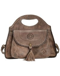 Patricia Nash Gray Distressed Sevres Satchel