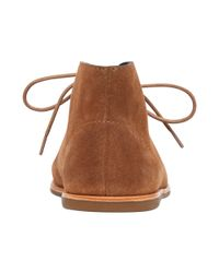 Lucky Brand Brown Womens Asherr Flat Laceup Booties