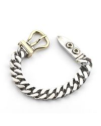 Hermès - Metallic Pre-Owned: Sterling Silver And 18Ky Gold Buckle Bracelet - Lyst