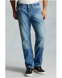 True Religion | Blue Ricky Straight Super T Mens Jean for Men | Lyst