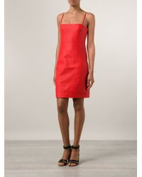 T By Alexander Wang Red Spaghetti Strap Dress