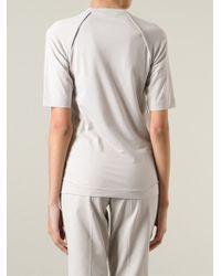 Brunello Cucinelli Natural Exposed Seam T-Shirt