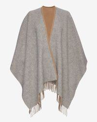 Rag & Bone - Brown Double Face Wrap Scarf - Lyst