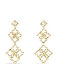 David Yurman | Metallic Venetian Quatrefoil Cluster Earrings With Diamonds In Gold | Lyst